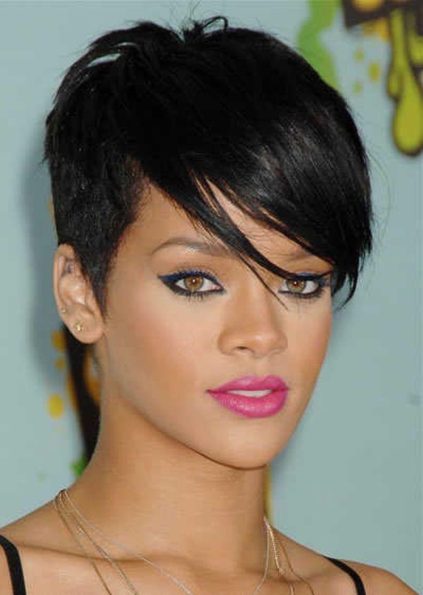 Cool Short Black Hairstyles Short Haircuts Black Hair Rihanna Short Hair Rihanna Hairstyles