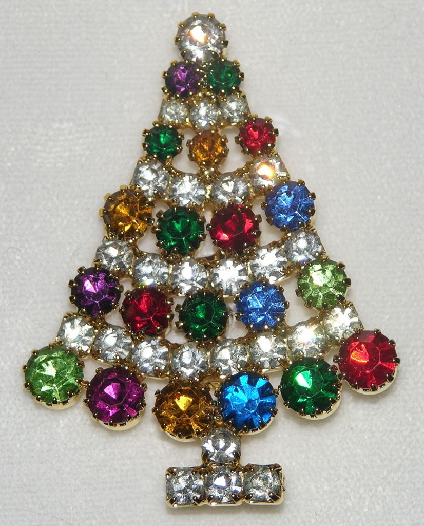 Lord Taylor Christmas Tree Pin Mint In Original Box Jewelry Christmas Tree Vintage Christmas Tree Decorations Jeweled Christmas Trees