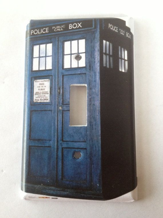 Doctor who dr tardis light switch covers wallplates for Tardis light switch cover