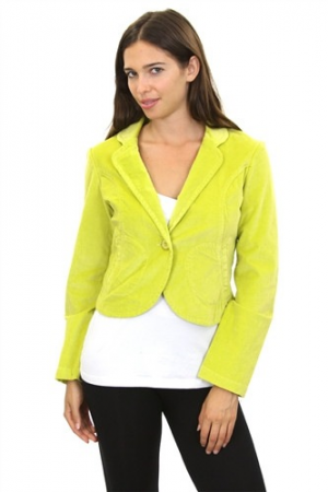2015 Winter Greenish Blazer. Greenish Yellow Winter jacket.