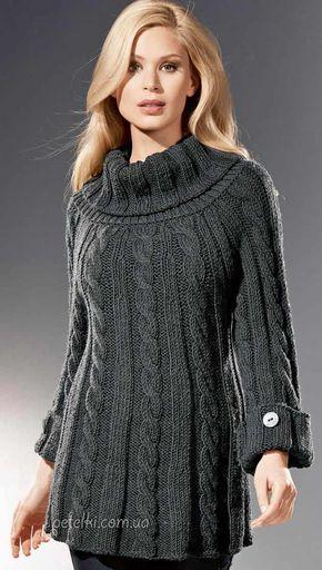 теплая туника спицами описание вязания схемы вязание одежда и т