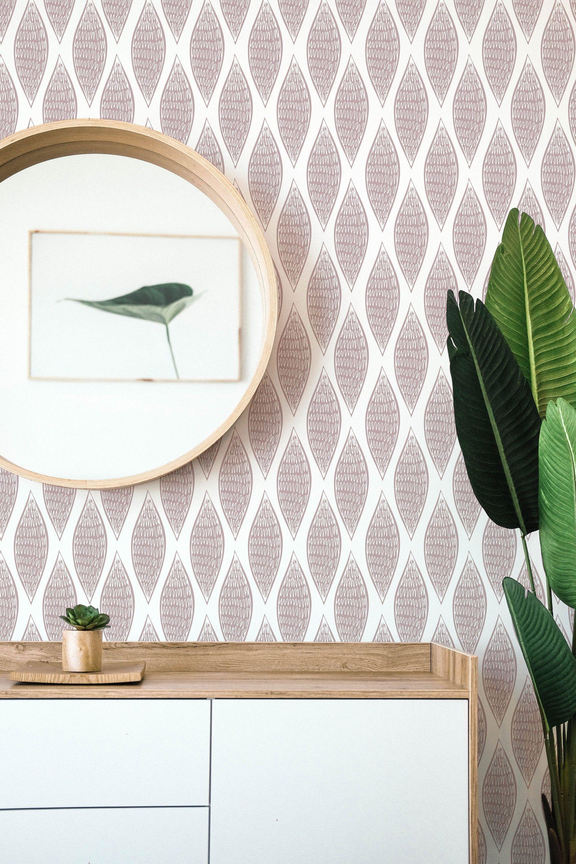 Retro Self Adhesive Wallpaper Mid Century Inspired Peel And Etsy Self Adhesive Wallpaper Peel And Stick Wallpaper Boho Wallpaper