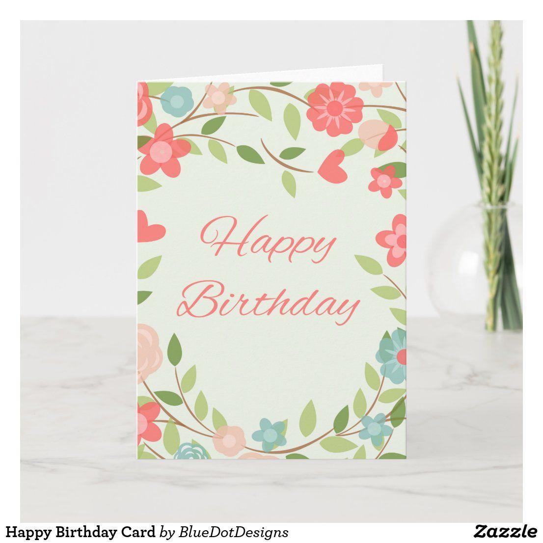 Happy Birthday Card  Zazzle.com in 6  Birthday cards, Happy