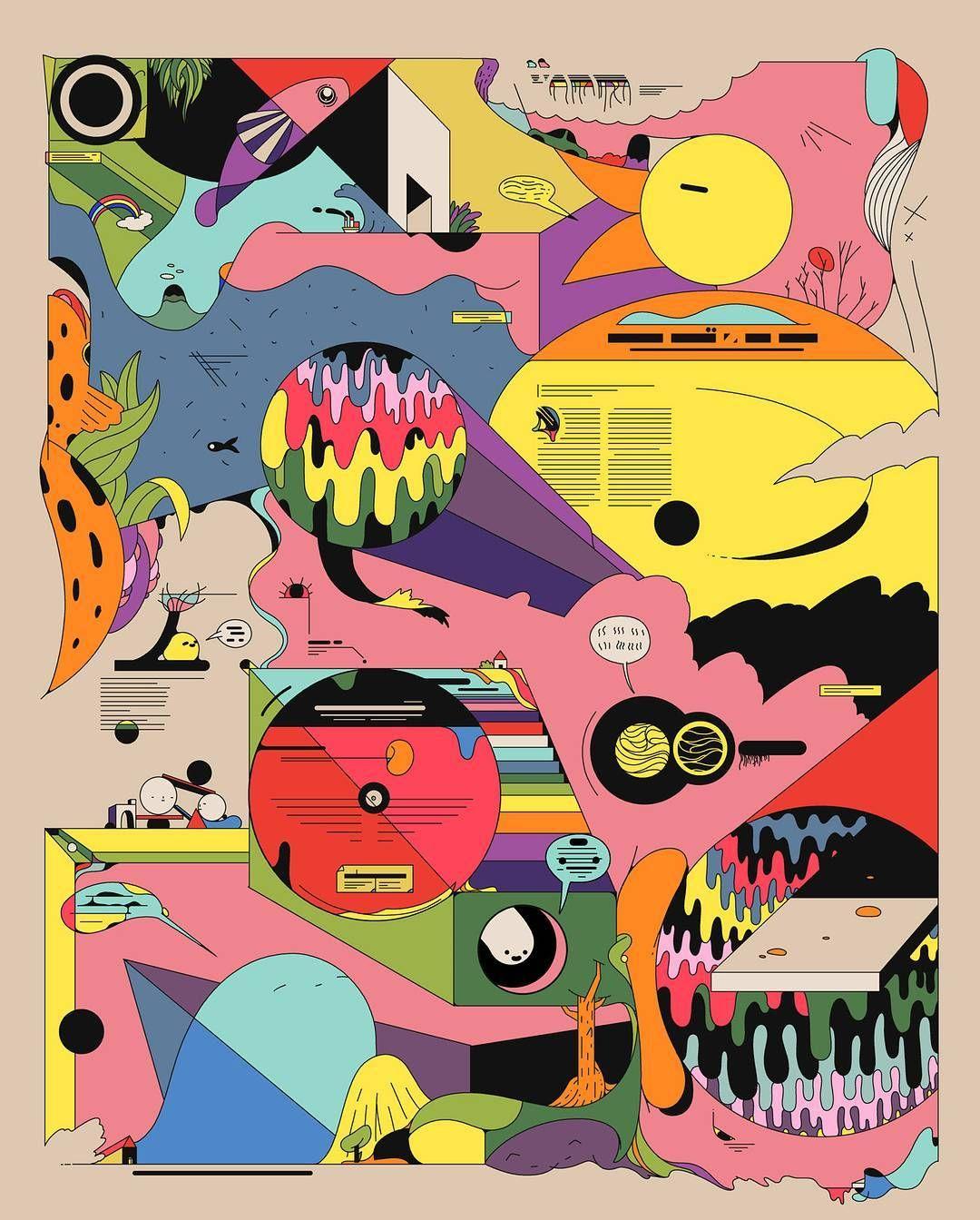 Experimental Illustrations By Ori Toor Via News