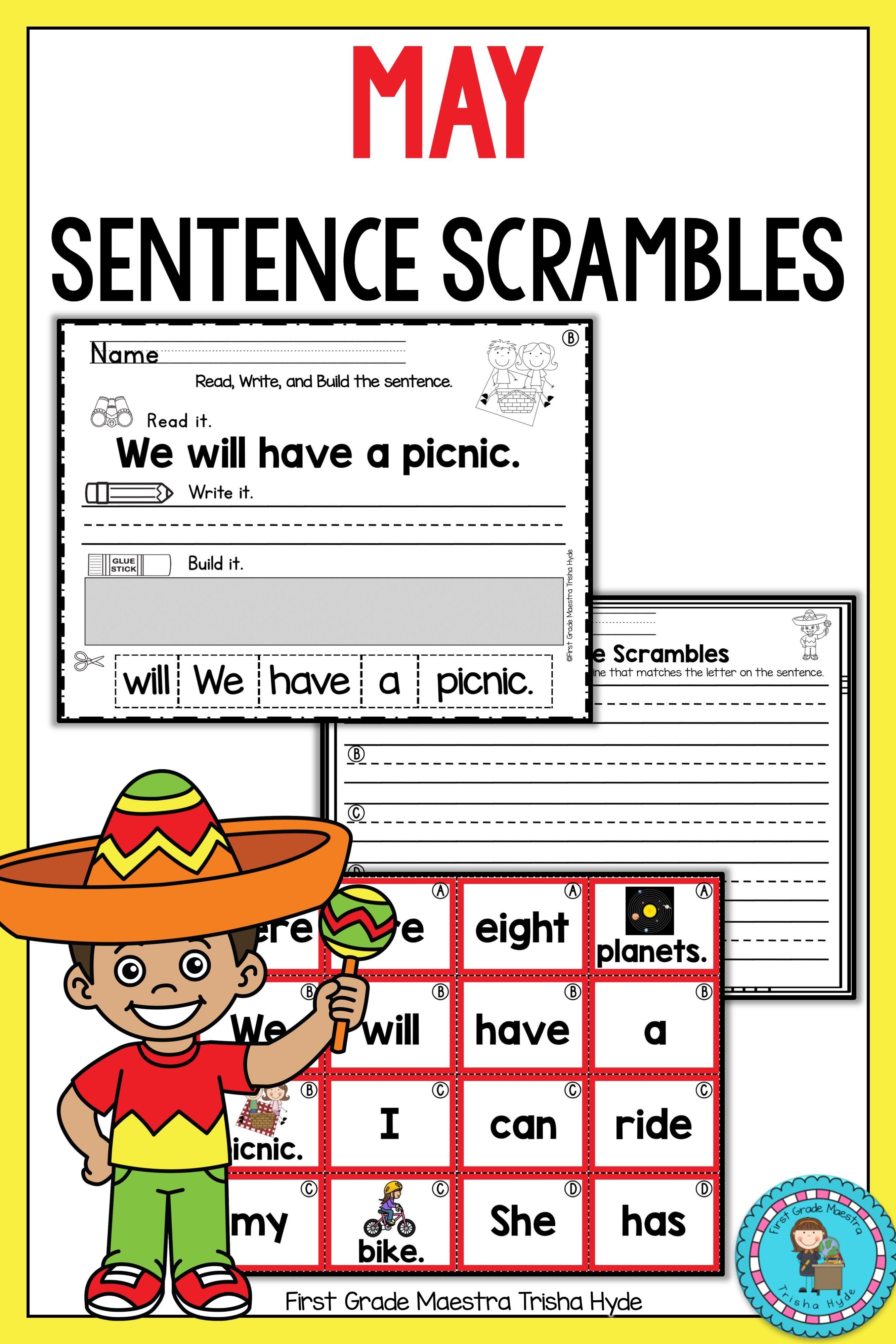 May Sentence Scrambles