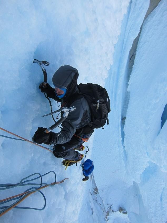 Dan Donovan and Stu McAleese on the Cerro Torre Headwall