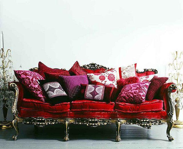Kasha Folk Red Furniture Home Decor