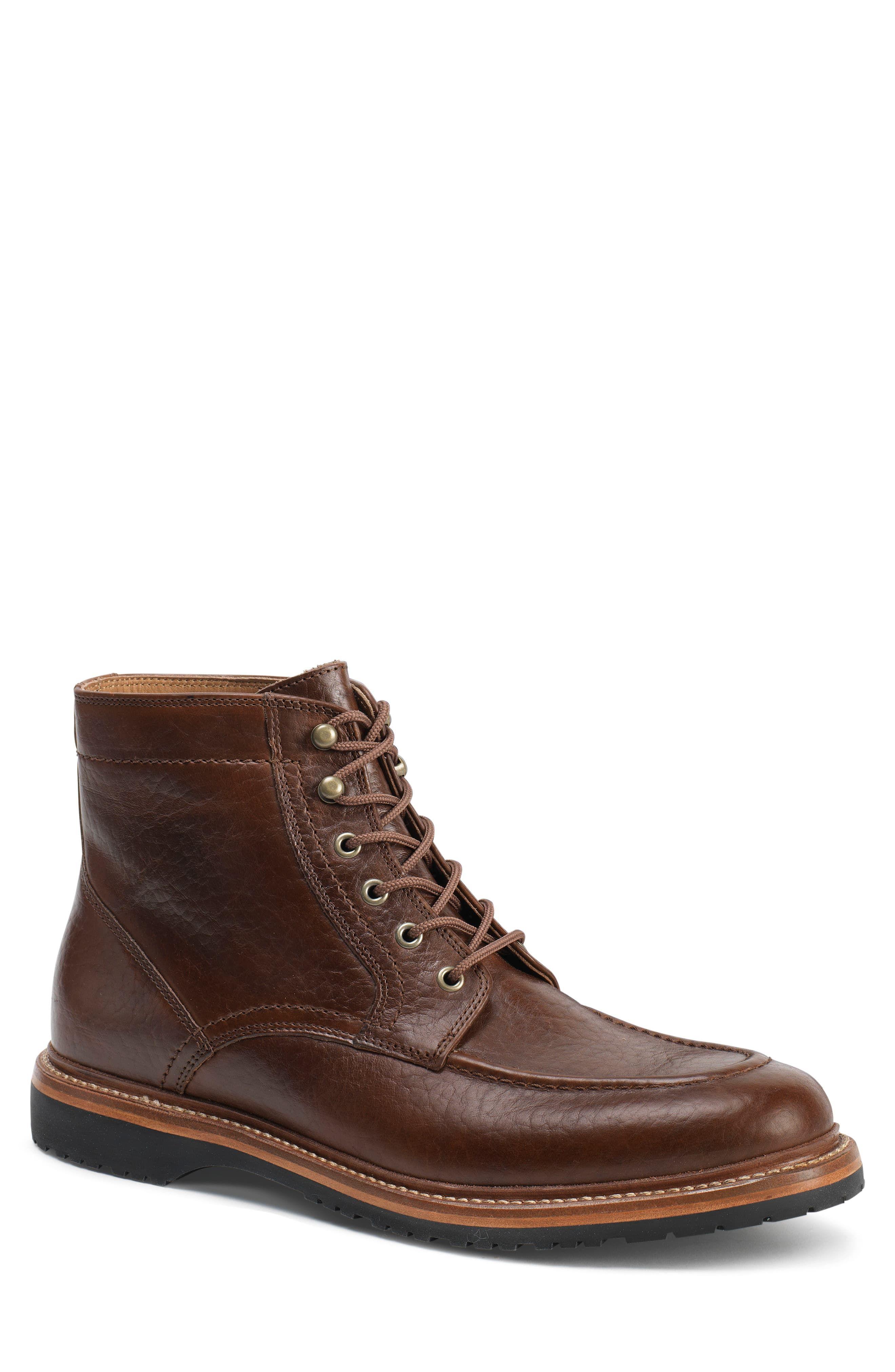 Trask 'Andrew Mid' Apron Toe Boot (Men   Comfortable mens