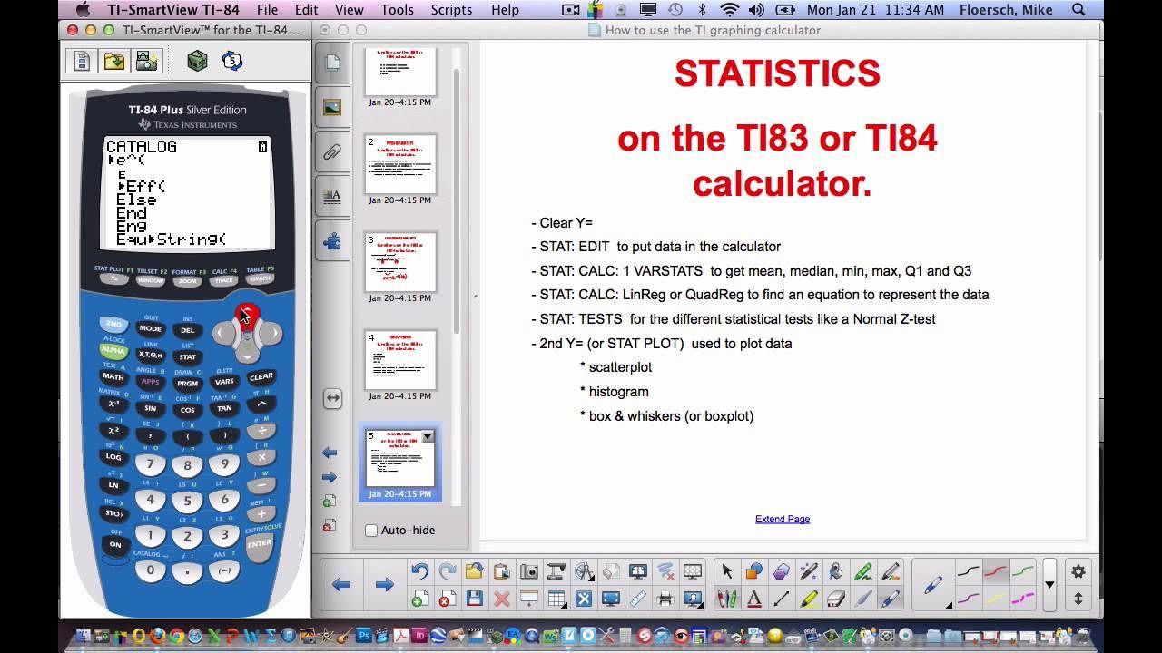 How To Use Ti83 Or 84 Calculator Ap Statistics Graphing Calculator Calculator