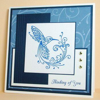 Layered Hummingbird Card