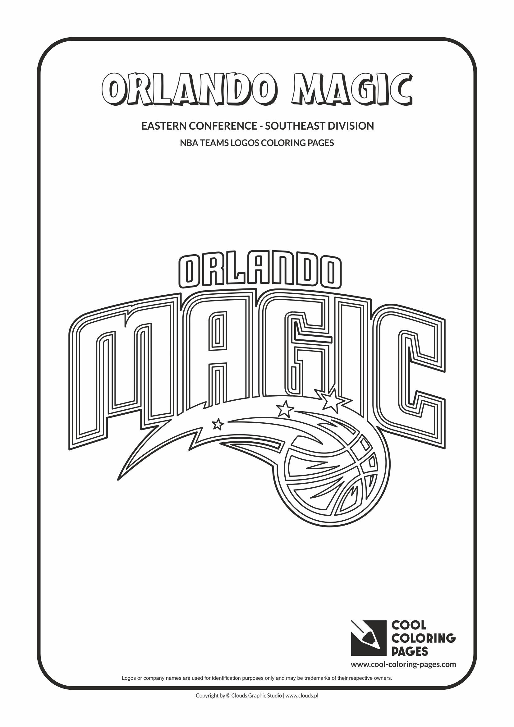 Cool Coloring Pages Nba Basketball Clubs Logos Easter Conference Southeast Coloring Pages Cool Coloring Pages Orlando Magic