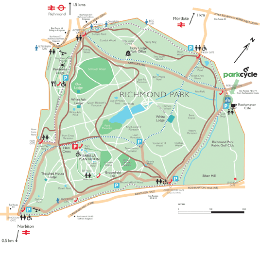 Richmond London Map.Richmond Park London Uk Map Maps In 2019 Richmond Park Park