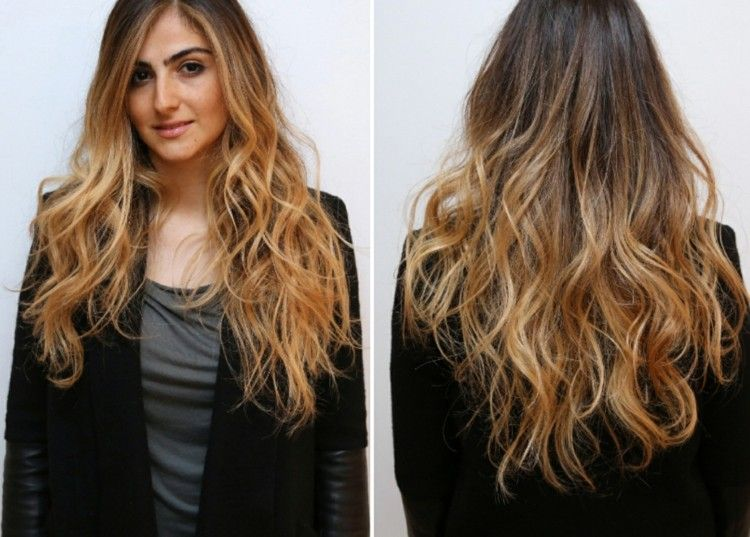 coupe cheveux long meche blonde