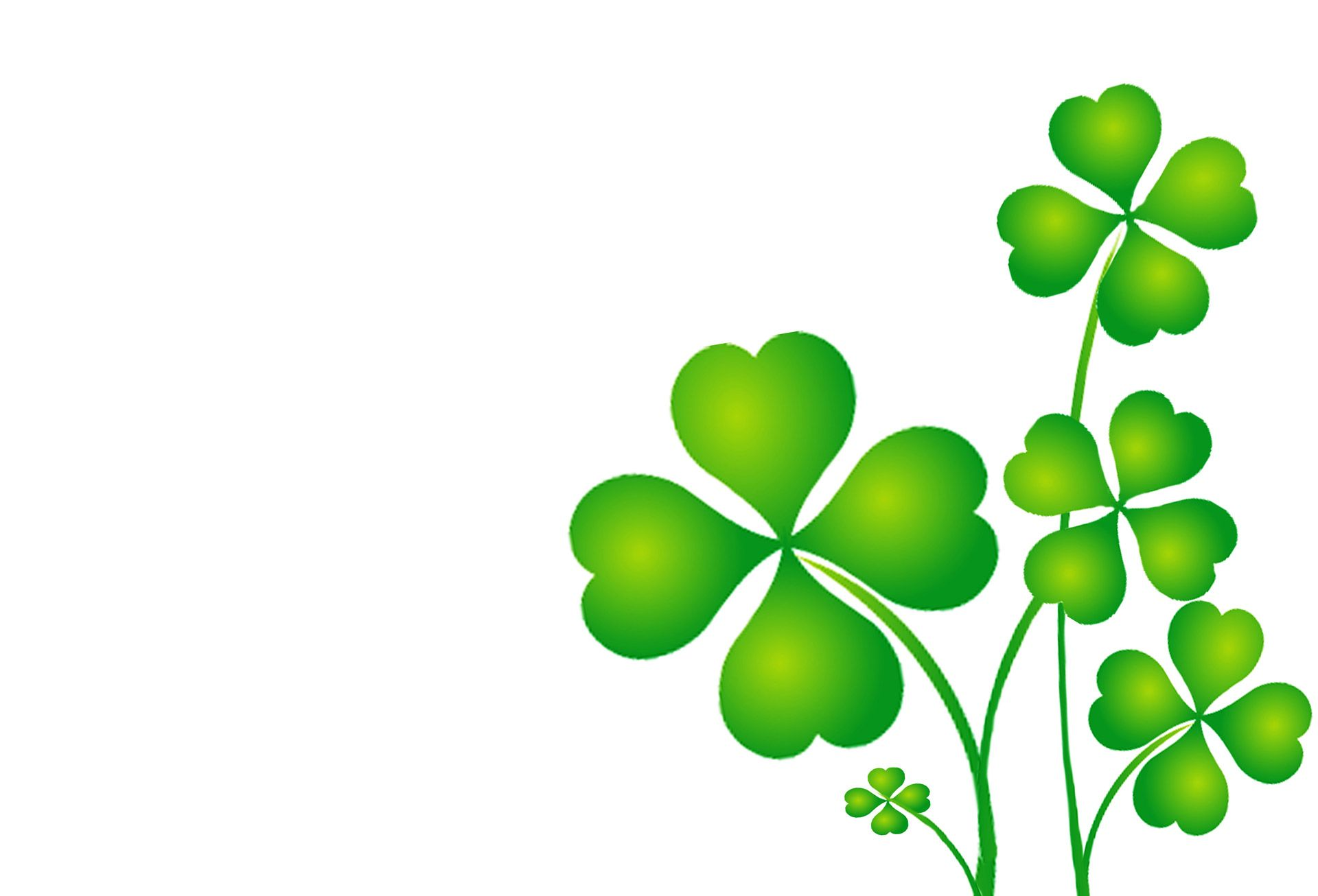 It is a graphic of Eloquent St Patrick's Day Clover Printable