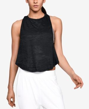 f5403aa1fa5d76 UNDER ARMOUR BURNOUT TWIST-BACK CROPPED TANK TOP.  underarmour  cloth