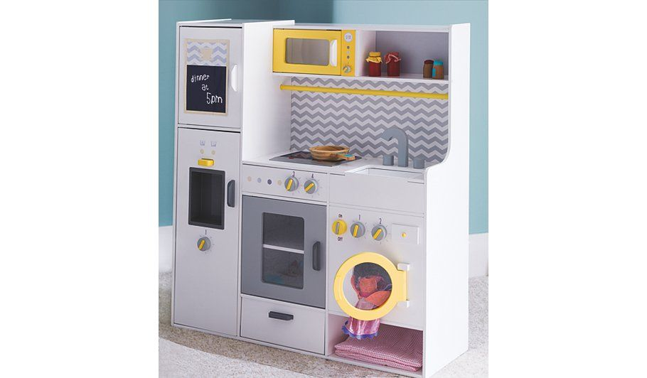Wooden Kitchen With Laundry And Pans Toy Kitchen Wooden