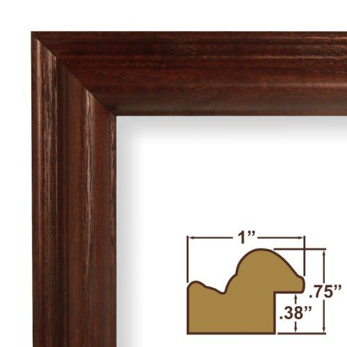 11x24 Picture Poster Frame Wood Grain Finish 1 Wide Cherry Red ...