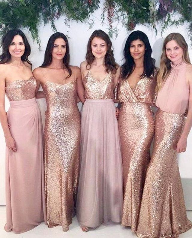 Love this colour combo and the different styles #bridesmaids ...