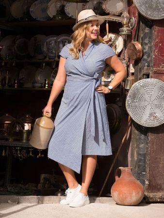 Платье с запахом   Платья больших размеров, Шитье платья и ...