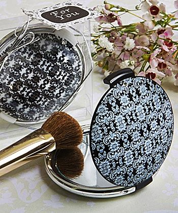 Gorgeous Damask Compact Mirrors