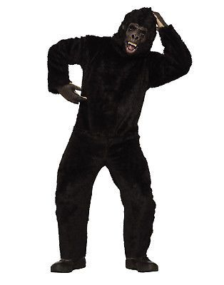 men costumes gorilla mens adult animal monkey black mascot halloween costumestd u003e