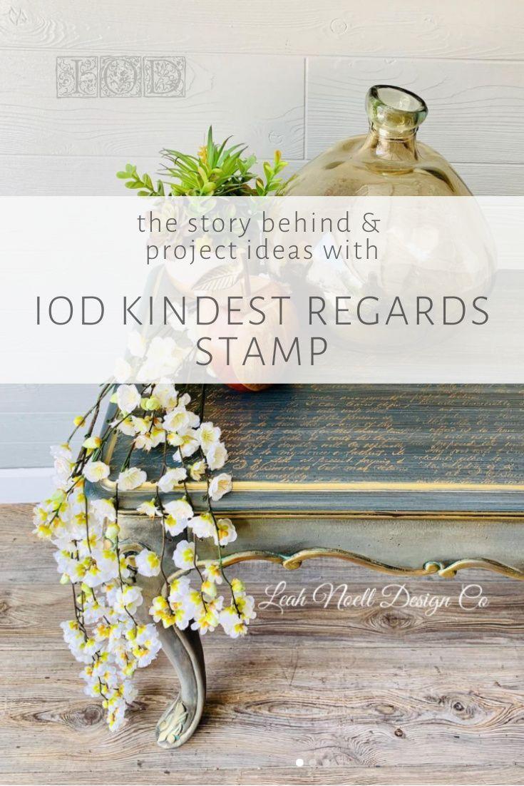Kindest Regards IOD Decor Stamp Iron Orchid Designs