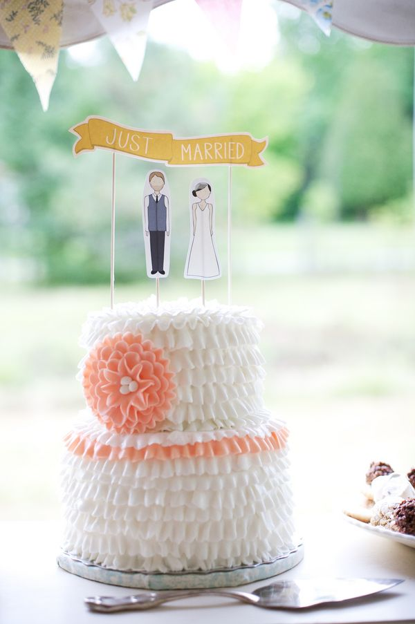 Mint And Peach Ontario Wedding Ruffled Ruffle Wedding Cake Wedding Cake Cost Small Wedding Cakes