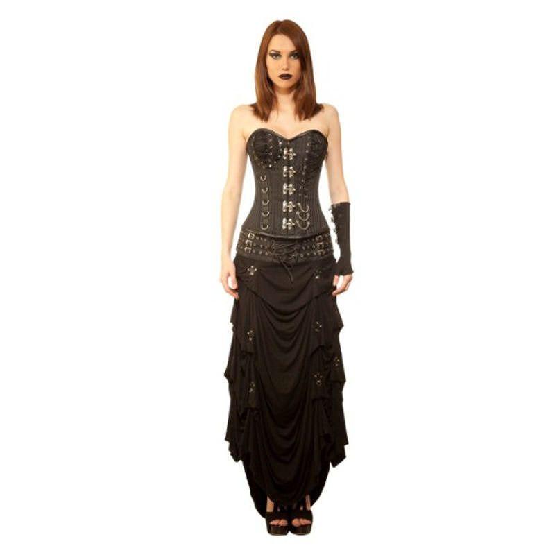 Sofiyko Gothic Authentic Steel Boned Overbust Corset Dress