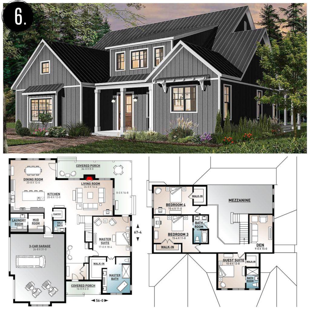 10 amazing modern farmhouse floor plans modern
