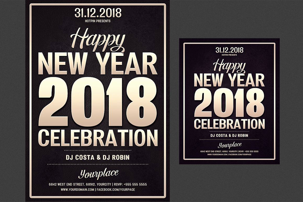 New Year Flyer Template Unique New Year Party Flyer Template Flyer Templates Creative In 2020 Party Flyer Flyer Template Flyer