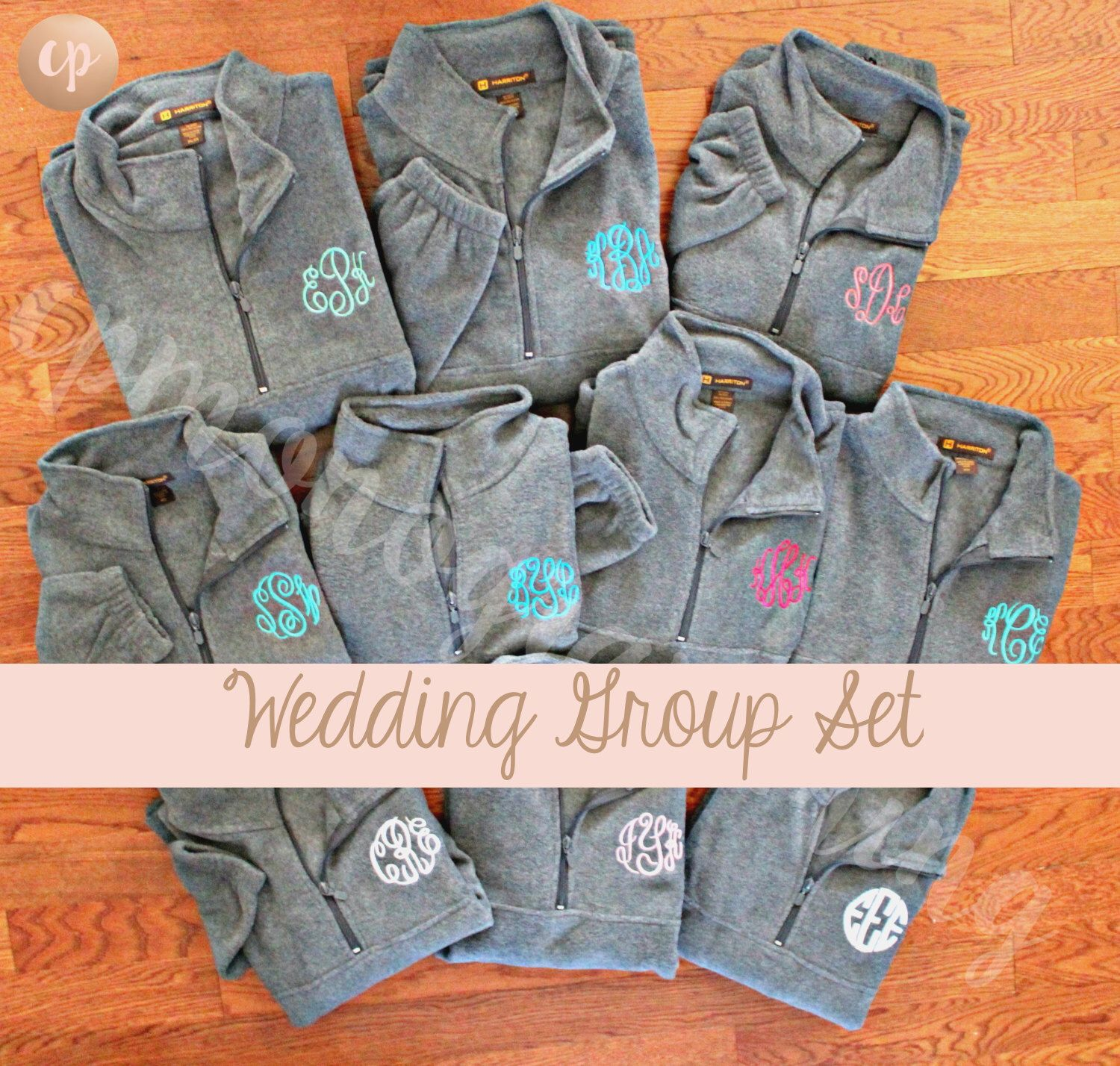 Bridal Party | Monogram Bridesmaid | Monogram Fleece | Wedding Pullover | Monogram Fleece Pullover | Monogrammed Pullover | Bridesmaid Gift by CPMONOGRAMMING on Etsy https://www.etsy.com/listing/482389418/bridal-party-monogram-bridesmaid