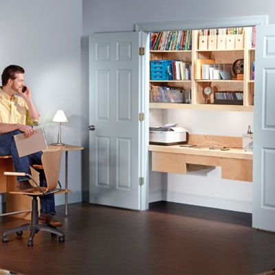Awesome Make A Built In Home Office. Install A Compact Workstation In A Wardrobe  That Can Be Hidden Away When Not In Use. | Handyman Magazine |