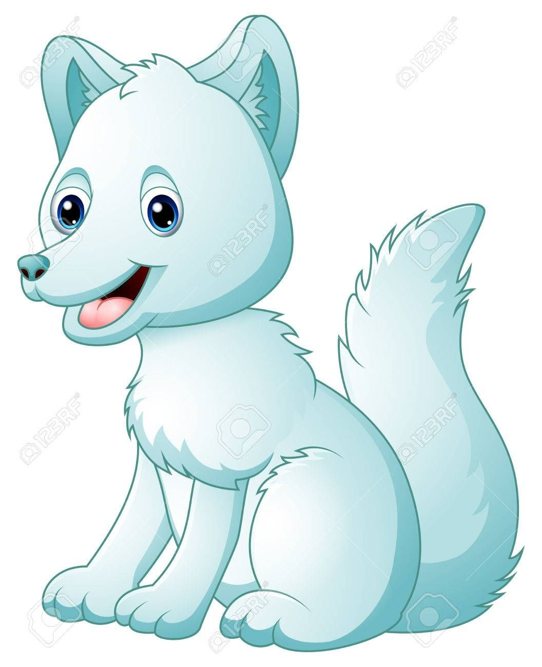Arctic Fox Clipart Free In 2021 Animal Illustration Kids Fox Coloring Page Arctic Fox