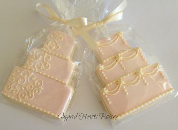****PLEASE SEE SHOP ANNOUNCEMENT BEFORE PURCHASING A LISTING OR ORDERING.****    **1 Dozen (12) additional wedding cake cookies, added to and shipping with existing order.**    These absolutely stunning wedding cake cookies are the perfect thank you for your guests as they celebrate your special day with you. They are also a great addition to an engagement party or rehearsal dinner. Each large 4 wedding cake cookie is hand decorated with beautiful detail and can be customized to coordinate…