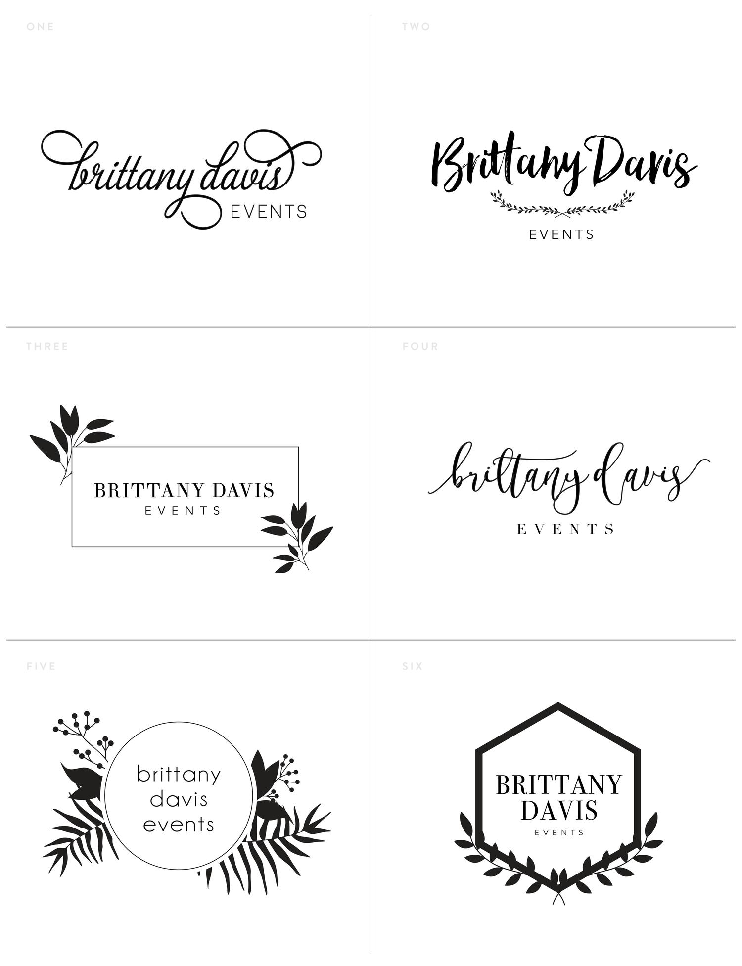 Brittany Davis Events Logo Logo Design Logos Logo Inspiration