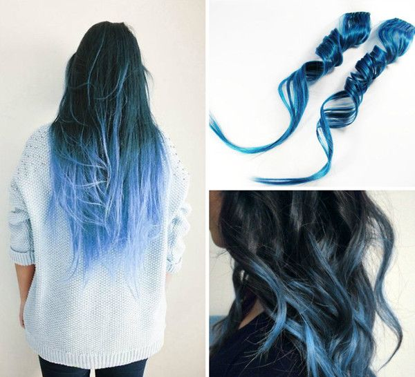 blau ombre hair haar frisuren pinterest bunte haare haar und haarfarben. Black Bedroom Furniture Sets. Home Design Ideas