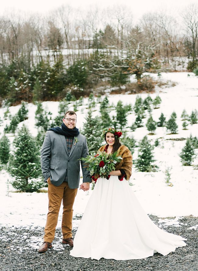 Christmas Tree Farm Weddings.Christmas Tree Farm Wedding Inspiration Winter Wedding