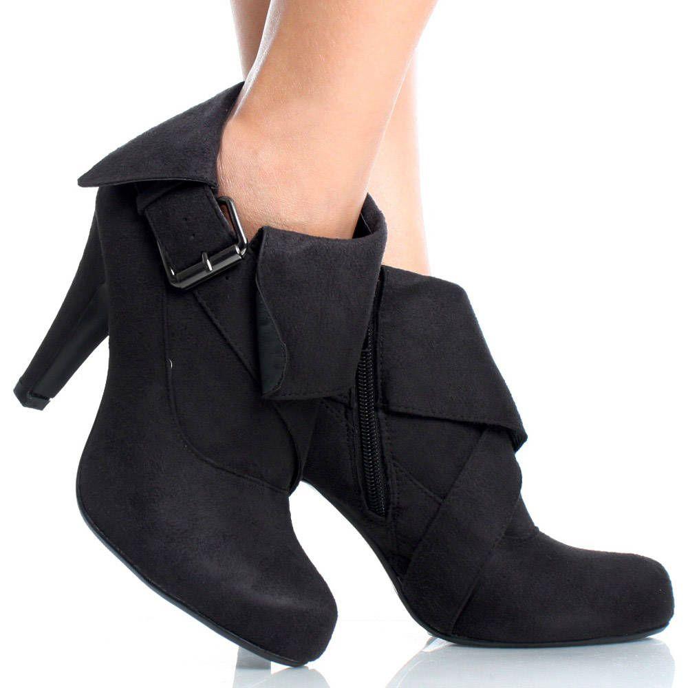 Women's Fashion Fringe Round Toe Side Zipper Short Boots Shoes Block High Heel Platform Ankle Booties