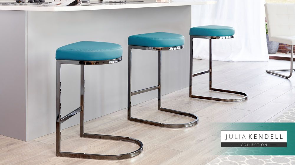 Magnificent Form Black Chrome Bar Stool Leather Stools Chrome Bar Gmtry Best Dining Table And Chair Ideas Images Gmtryco
