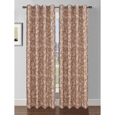 Bella Luna Pinehurst Faux Silk Room Darkening Extra Wide Single Curtain Panel Color: