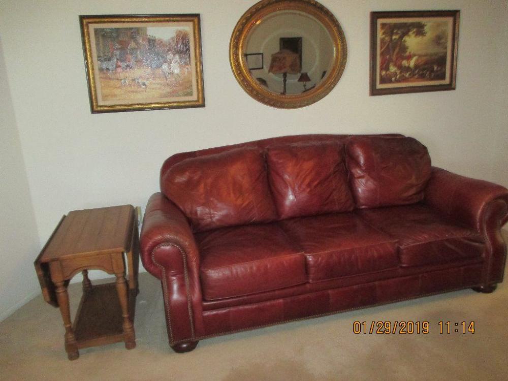 Broyhill Burgundy Leather Sofa Burgundy Leather Sofa Burgundy Leather Leather Sofa Leather sofas with nailhead trim