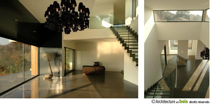 interieur-maison-bois-contemporaine-vue-face | Maisons en bois ...