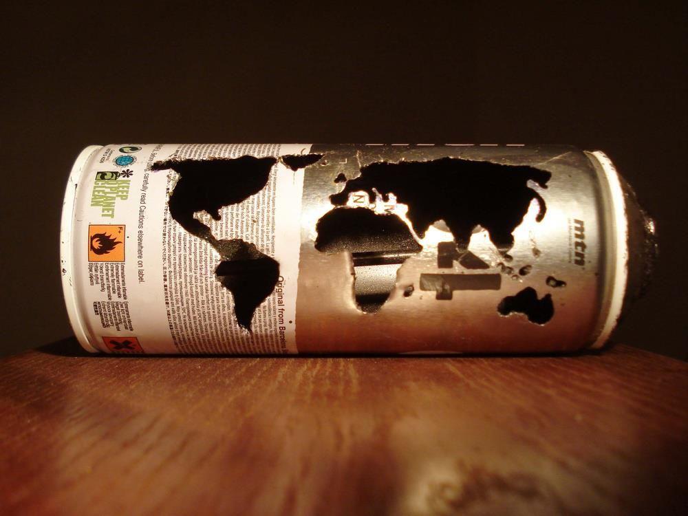 spray can (as) art