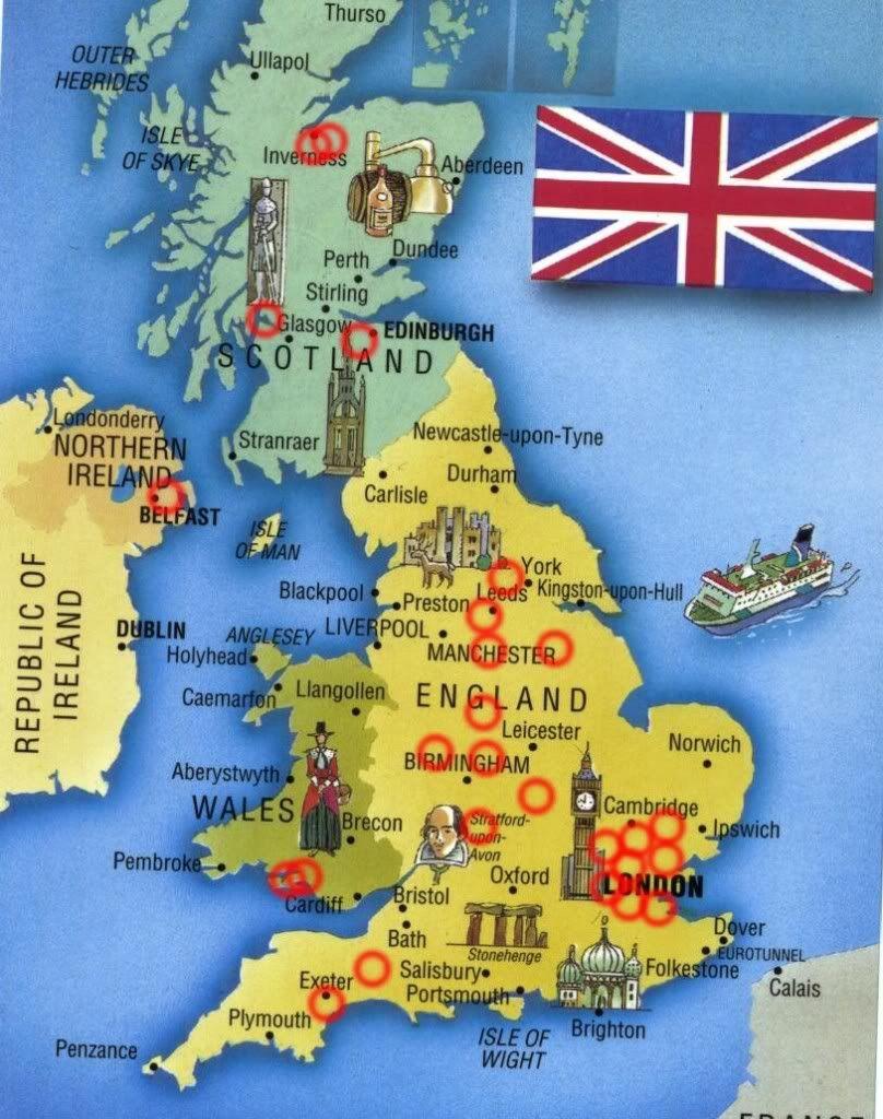 mapa uk Forum THESAURUS :: Mapa członków Klubu