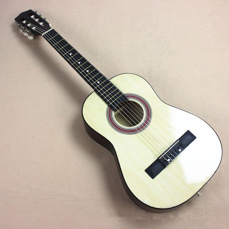 New 34 Acoustic Classical Guitar 34 3 White Color Guitarra Musical