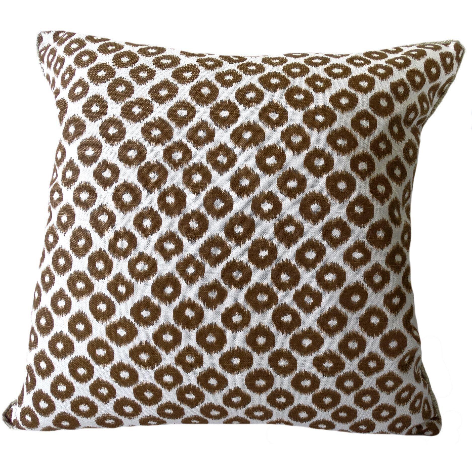 Bradford Mocha Brown Ikat Pillow Ikat Pillows Mocha