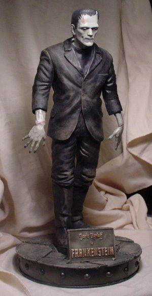 "Boris Karloff as Frankenstein Monster 17"" Statue"