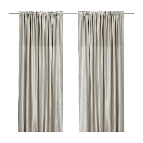 DAGNY Curtains, 1 Pair IKEA Hemmed At 98 3/8, But Can Easily Be Shortened To Desired Length With
