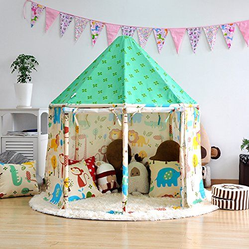 Pericross Cotton Kids Playhouse Princess Castle Children Indoor Play Tents (Green) & Pericross Cotton Kids Playhouse Princess Castle Children Indoor ...
