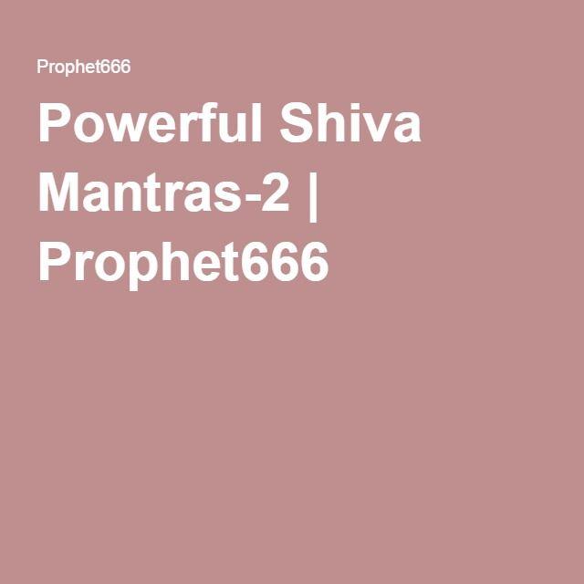 Powerful Shiva Mantras-2 | Prophet666 | 2 powerful shiv mantras | Shiva